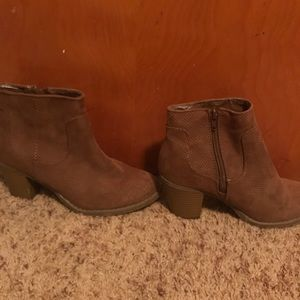 Tan Ankle Booties